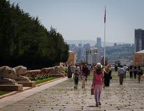 Туристы в Anitkabir, Анкаре Стоковые Изображения