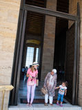 Туристы в Anitkabir, Анкаре Стоковые Фотографии RF