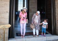 Туристы в Anitkabir, Анкаре Стоковая Фотография