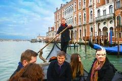 туристы гондолы gondoliar Стоковые Фото