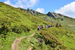 Туристы горы Стоковые Изображения RF