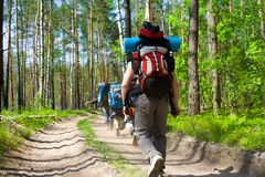 туристы деревянные Стоковая Фотография