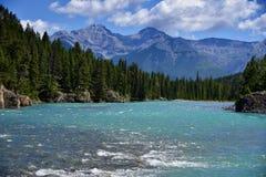 Туристы или путешественник могут насладиться непобедимой красотой ландшафтов скалистых гор и национального парка Banff воды, Альб стоковые фото