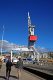 Туристы идя в док загрузки в Чили Стоковое Изображение