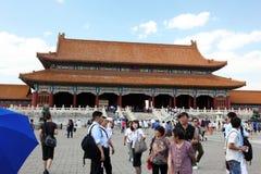 Туристы множества для того чтобы увидеть визирования Forb стоковая фотография