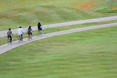Туристы наслаждаются задействовать на майне велосипеда Стоковые Фотографии RF