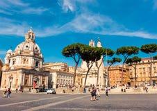 Туристы на аркаде Venezia в Риме Стоковые Изображения