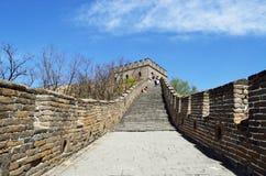 Туристы на Великой Китайской Стене Стоковая Фотография RF