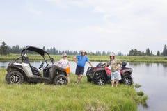 Туристы на Мотовездеходах На ATV Стоковое Изображение RF