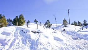 Туристы на наклонах Patnitop Стоковые Фото