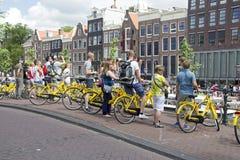 Туристы на доме Анны Франка в Амстердаме Стоковое фото RF