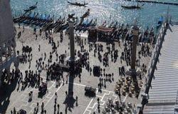 Туристы на Сан Marco в Венеции, Италии стоковые фото