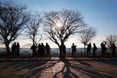 туристы платформы paris замечания Стоковая Фотография RF