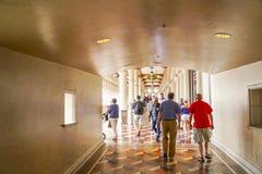 Туристы посещая известную венецианскую гостиницу в Лас-Вегас - ЛАС-ВЕГАС - НЕВАДЕ - 22-ое апреля 2017 стоковое фото