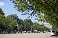 Туристы посещая DC Вашингтона Белого Дома Стоковая Фотография