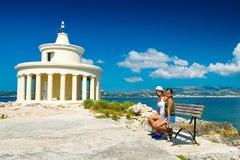 Туристы приближают к ориентир ориентирам Стоковое Изображение