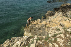 Туристы плавая на Адриатическом море Стоковое фото RF