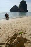 туристы Таиланда пляжа railay Стоковые Изображения RF