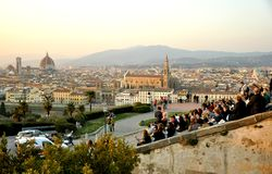 туристы florence Италии Стоковые Фото