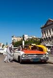 туристы havana автомобиля классицистические Стоковые Фото