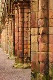 туристы jedburgh привлекательности аббатства Стоковое Изображение