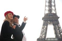 туристы paris Стоковая Фотография