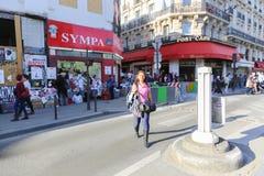 туристы paris Стоковое Изображение RF