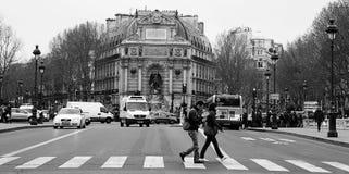 туристы paris Стоковые Изображения