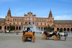 туристы seville стоковые фото