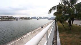 Турист Вьетнам Изумительный залив Ha длиной наследие ЮНЕСКО акции видеоматериалы