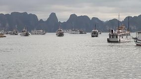 Турист Вьетнам Изумительный залив Ha длиной наследие ЮНЕСКО видеоматериал