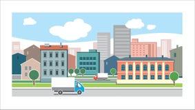 Турист в городе Бесплатная Иллюстрация