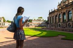 Турист в Дрездене Стоковое Изображение RF