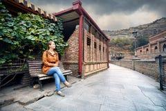 Турист в Тбилиси Стоковое Изображение