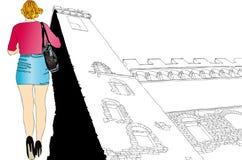 Турист в Флоренсе Стоковое Изображение RF