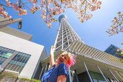Турист в Японии стоковые фотографии rf