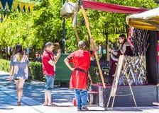 Турист в Toledo стоковые изображения