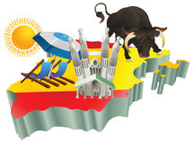 турист испанского языка Испании иллюстрации привлекательностей Стоковая Фотография