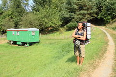Турист караваном Стоковое фото RF