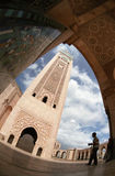 турист мечети hassan стоковые изображения rf
