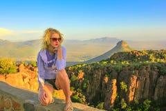 Турист на долине Desolation стоковые изображения rf