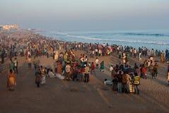 Турист на пляже стоковая фотография rf