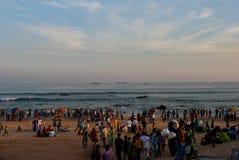 Турист на пляже Стоковое Изображение