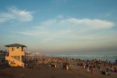 Турист на пляже стоковое изображение rf