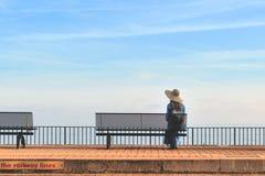 Турист на станции Стоковые Фотографии RF