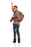 Турист развевая до свидания Стоковое Фото