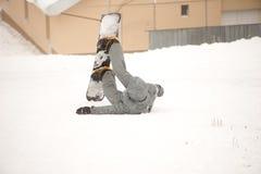 Турист сноуборда стоковое изображение rf