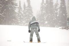 Турист сноуборда стоковая фотография rf