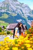 турист engelberg востоковедный Швейцарии Стоковая Фотография