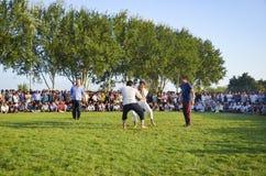 Туркмен wrestling в Стамбуле Стоковое Фото
